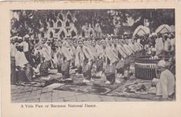 Myanmar Burma Yein Pwe Or Burmese National Dance