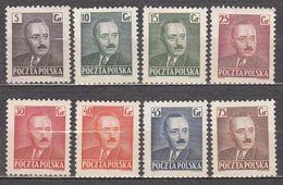 Poland 1950 Mi# 671-678 President Bierut  MNH * * 7,75 - 1944-.... Republic