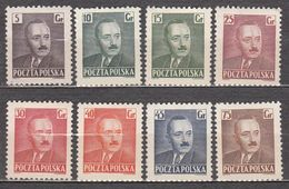 Poland 1950 Mi# 671-678 President Bierut  MNH * * 7,75 - 1944-.... Repubblica