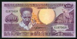 280-Surinam Billet De 100 Gulden 1986 E187 Neuf - Surinam