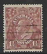 Australia, George V, 1922,  1 1/2d Bright Red-brown. Used - Oblitérés