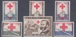 BELGIUM MNH** COB 1096/1101 CROIX ROUGE HENRI DUNANT - Belgium