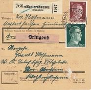 BESCHEINIGUNG Des EMPFÄNGERS - RÉCÉPISSÉ - Mastershausen / Hunsrück 16 Février 1944 N° 713 + 720 X3 - Covers & Documents