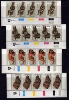 VENDA, 1980, Mint Never Hinged Stamps In Control Blocks, MI 22-25, Wood Carvings , X302 - Venda