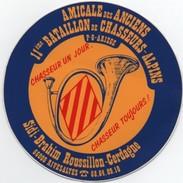 Autocollant : AMICALE Des ANCIENS 11ème Bataillon De Chasseurs Alpins -P.O ARIEGE - Autocollants