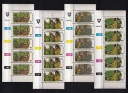 VENDA, 1980, Mint Never Hinged Stamps In Control Blocks, MI 34-37, Butterflies, X305 - Venda