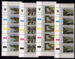 VENDA, 1981, Mint Never Hinged Stamps In Control Blocks, MI 42-45, Lakes And Waterfalls, X307 - Venda
