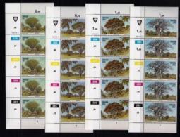 VENDA, 1982, Mint Never Hinged Stamps In Control Blocks, MI 62-65, Indigenous Trees, X312 - Venda
