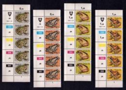 VENDA, 1982, Mint Never Hinged Stamps In Control Blocks, MI 66-69, Frogs, X313 - Venda