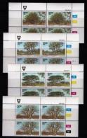 VENDA, 1983, Mint Never Hinged Stamps In Control Blocks, MI 78-81, Indigenous Trees, X316 - Venda