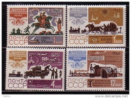 RUSSIA  RUSSIE - 1965 - Histoir De La Poste - 4v** - 1923-1991 URSS