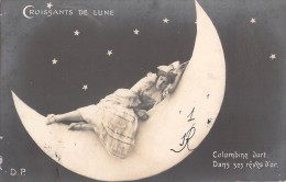 CROISSANTS DE LUNE / COUPLE / COLOMBINE DORT DANS SES REVE D OR ... / D.P - Fantaisies