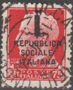 Italie République Sociale 1944 N° 494  (E14) - 4. 1944-45 Repubblica Sociale