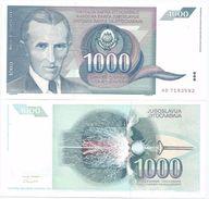 Yugoslavia 1000 Dinara 1991. UNC P-110 - Yugoslavia