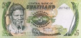 Swaziland 5 Emalangeni P-9b UNC - Swasiland