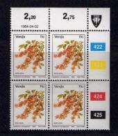 VENDA, 1984, Mint Never Hinged Stamps In Control Blocks, MI 90, Flower 11 Cent, X319 - Venda