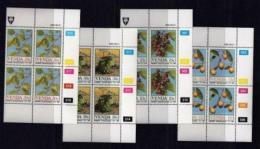 VENDA, 1985, Mint Never Hinged Stamps In Control Blocks, MI 112-115, Food From The Veld, X326 - Venda