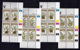 VENDA, 1985, Mint Never Hinged Stamps In Control Blocks, MI 116-119, Ferns, X327 - Venda