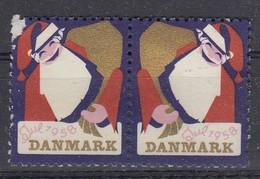 Dänemark, Julen 1958, Weihnachten, Reklamemarke, Julemaerket, Weihnachtsmann - Erinnophilie