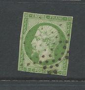 France 1853 Napoleon  5 Cent Deep Green  .   On Paper - 1853-1860 Napoleon III
