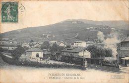 Beaujeu Gare Avec Tramway - Beaujeu