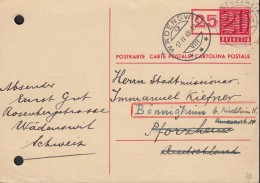 SCHWEIZ Postkarte P 193, Stempel: Wädenswil 17.IV.1948 - Ganzsachen