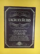 4785 - Lacroix-Rubis Grand Vin D'Oranie Algérie - Etiquettes