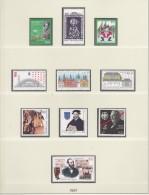 BRD  1997-2000, 4 Jahrgänge Komplett Postfrisch ** Nur DM-Werte Auf 45 Blatt Falzlos In LINDNER Ringbinder Dunkelbraun - [7] West-Duitsland