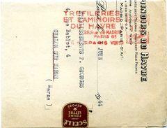 EMA France Havas Type C 1944 Etiquette De Fermeture - Marcophilie (Lettres)