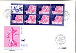 FDC Géant - Carnet Journée Du Timbre 1996 - Semeuse - 1990-1999