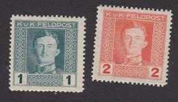 Austria, Scott #M49-M50, Mint Hinged, Military, Issued 1917 - Austria
