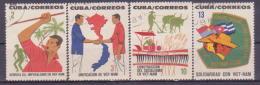 65-109 // CUBA  1964   SOLIDARITY  With VIETNAM  Mi 904/07 O - Cuba