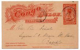 BELGISCH CONGO - POSTAL STATIONERY/ENTIER 5c.- CANCEL STANLEYVILLE TO BASOKO 1912 - Congo Belga - Altri
