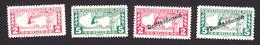 Austria, Scott #QE3-QE6, Mint Hinged, Mercury, Mercury Overprinted, Issued 1917-19 - Austria