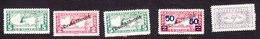 Austria, Scott #QE4-QE8, Mint Hinged, Mercury, Mercury Overprinted, Issued 1917-22 - Austria