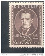 Österreich 942 Johann Strauß MNH Postfrisch ** - 1945-.... 2. Republik