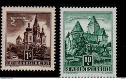 Österreich 1037 - 1038 Bauwerke MNH Postfrisch ** - 1945-.... 2. Republik