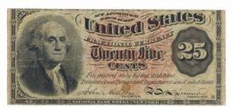 United STATES Of America , 25 Cents ,  Rare , FREE SHIP. TO USA. - Fractional Currency (1862-1875)