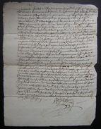 1740 Charente, Paroisse D'Aumagne Village De Chagnon Joli Document Relatif à Jean Blanchard Laboureur - Manuscrits
