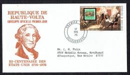 1975 BiCentenaire Des USA  Proclamation De L'indépendance FDC - Haute-Volta (1958-1984)