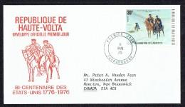1975 BiCentenaire Des USA   Washington Et Lafayette  FDC - Haute-Volta (1958-1984)