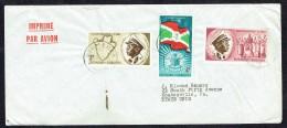 1963  Imprimé Par Avion Pour Les USA  COB 26, 28, 30 - Burundi