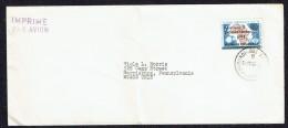 1962  Imprimé Par Avion Pour Les USA  Hammarskjöld 6,50fr Sur Néerlandais  FDC - Burundi