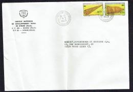 1985  Lettre Pour La France  Nasses  50  Fr, 80 Fr - Centrafricaine (République)