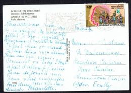1975  Année Internationale De La Femme Sur Carte Postale Pour La France - Centrafricaine (République)