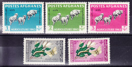 AFGANISTAN 1963, YT 695/9 * MH MOUTONS ET VERS A SOIE. (7B178) - Afghanistan