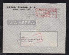 Peru 1956 Meter Airmail Cover LIMA To AMSTERDAM Netherlands - Peru
