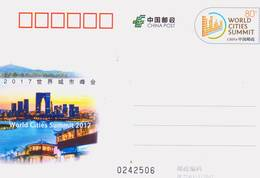 China 2017 JP224 World Cities Summit 2017  Commemorative Pre-stamped Card - 1949 - ... République Populaire