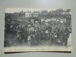 MARNE CAMP DE CHALONS INFANTERIE EN MANOEUVRE LA HALTE HORAIRE LA CANTINE - Camp De Châlons - Mourmelon