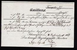 A4802) Quittung Von Schweinfurt 1867 - Documenti Storici